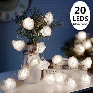 ELINKUME LED Guirlande 20LEDs Rose Blanc Froid Surpiqure Lumineuse Alimenté par Piles Beau et Doux Éclairage 8,2 Pieds Décoration d'intérieur [Classe énergétique A++] de la marque ELINKUME image 0 produit