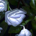 ELINKUME LED Guirlande 20LEDs Rose Blanc Froid Surpiqure Lumineuse Alimenté par Piles Beau et Doux Éclairage 8,2 Pieds Décoration d'intérieur [Classe énergétique A++] de la marque ELINKUME image 2 produit
