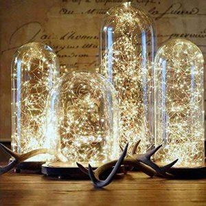 ELINKUME LED Guirlande Lumineuse Puissance de la Batterie Blanc Chaud Fée lampe Propulsé 50LEDs 16,4 pi Fil de Cuivre Twinkle LED Lampe pour la Décoration Bricolage de la marque ELINKUME image 0 produit