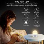 ELZO LED Lampe de chevet Touch Sensor, veilleuse sans fil décorative rechargeable portative avec 7 couleurs RGB et lumière blanche chaude à intensité réglable, 80 heures de fonctionnement, Touch Control de la marque ELZO image 3 produit
