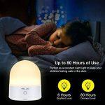 ELZO LED Lampe de chevet Touch Sensor, veilleuse sans fil décorative rechargeable portative avec 7 couleurs RGB et lumière blanche chaude à intensité réglable, 80 heures de fonctionnement, Touch Control de la marque ELZO image 4 produit