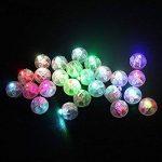EMVANV Balloon Lumière 100Pcs Lanterne LED Lampe Mini Rond Boule Lumière Long Temps de Veille Gobelet Floral Mariage Papier Décoration de Fête 1.7 * 1.7cm Red de la marque EMVANV image 3 produit