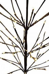 EN SOLDE - Arbre de Noël enneigé en bois de bouleau brun à branches nues de 1,5m de haut avec 96LED blanches chaudes de la marque Garden Market Place image 0 produit