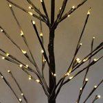 EN SOLDE - Arbre de Noël enneigé en bois de bouleau brun à branches nues de 1,5m de haut avec 96LED blanches chaudes de la marque Garden Market Place image 2 produit