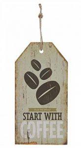 ENSEIGNE bois COFFEE Publicité rétro VINTAGE 29x15cm Neuf à suspendre de la marque Clayre & Eef image 0 produit