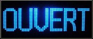 Enseigne lumineuse à LED OUVERT bleu 60x30x2.5cm de la marque ADE LIGHT image 0 produit