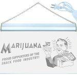 Enseigne Lumineuse i059-b Marijuana Proud Supporters Snack Food Neon Sign de la marque AdvPro Sign image 1 produit