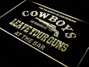 Enseigne Lumineuse i783-y Cowboys Leave Guns Bar Beer Neon Light Sign de la marque AdvPro Sign image 0 produit