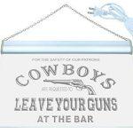 Enseigne Lumineuse i783-y Cowboys Leave Guns Bar Beer Neon Light Sign de la marque AdvPro Sign image 1 produit