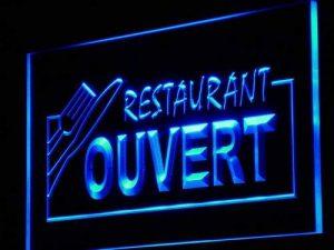 Enseigne Lumineuse j184-b OUVERT Restaurant OPEN Food Neon Light Sign de la marque AdvPro Sign image 0 produit