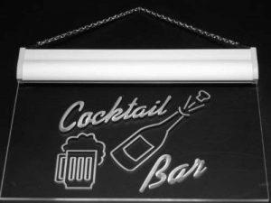 Enseigne Lumineuse j329-b Cocktails Bar Cup Bottle Beer Neon Light Sign de la marque AdvPro Sign image 0 produit