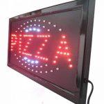 Enseigne lumineuse LED avec inscription «Pizza» 48x 25x 2cm de la marque Ideal image 1 produit