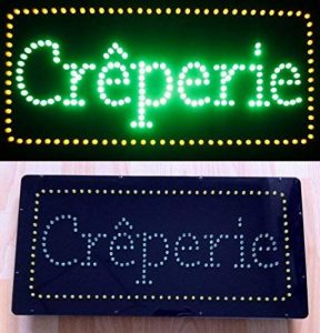 Enseigne lumineuse à LED Crêperie 48x24x2.5 cm de la marque ADE LIGHT image 0 produit