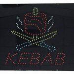 Enseigne lumineuse à LED Kebab 40x40x2.5cm de la marque ADE LIGHT image 1 produit