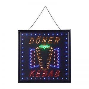 Enseigne Lumineuse LED Open, Panneau d'affichage LED Lumineux Néon Panneau de Signe pour Vitrine Boutique Bar Café Restaurant (DONER KEBAB, 50 x 50 x 2cm) de la marque Zerone image 0 produit