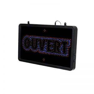 Enseigne lumineuse à LED Ouvert en 3 couleurs 56x33 cm GARANTIE 1 AN – Conception Française de la marque Interface PLV image 0 produit
