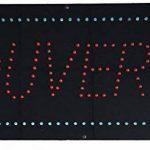 Enseigne lumineuse à LED Ouvert rouge/bleu 48x24x2.5cm de la marque ADE LIGHT image 1 produit
