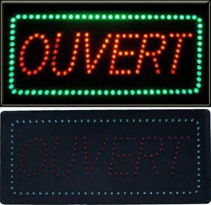 Enseigne lumineuse à LED Ouvert rouge/vert 48x24x2.5cm de la marque ADE LIGHT image 0 produit