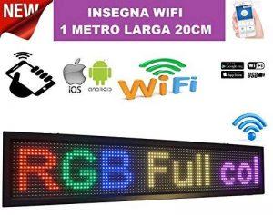 Enseigne lumineuse à LED RGB colorée WiFi inscription personnalisée coulissant tableau magasin USB 100x 20cm de la marque ® IDOR STORE ® image 0 produit