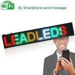 Enseigne lumineuse à LED RGB colorée WiFi inscription personnalisée coulissant tableau magasin USB 100x 20cm de la marque ® IDOR STORE ® image 4 produit