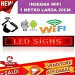 Enseigne lumineuse à LED WIFI Rouge Inscription personnalisée coulissant tableau magasin 100x 20cm de la marque ® IDOR STORE ® image 3 produit
