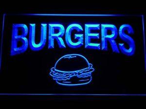 Enseigne Lumineuse m082-b Burgers Cafe Neon Light Sign de la marque AdvPro Sign image 0 produit