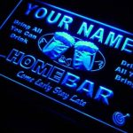 Enseigne Lumineuse p662-b Bruno's Home Bar Beer Family Last Name Neon Light Sign de la marque AdvPro Name image 1 produit