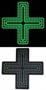 Enseigne lumineuse Panneau à LED Croix vert (pharmacie modèle N° 2) 48X48X2,5cm de la marque ADE LIGHT image 0 produit