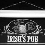 Enseigne Lumineuse s012-g Irish's Pub Bar Club Neon Light Sign de la marque AdvPro Sign image 1 produit
