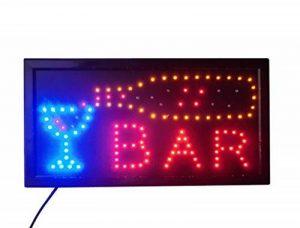 ENSEIGNE PANNEAU TABLEAU LUMINEUSE LED - BAR. IDEAL POUR VITRINES de la marque ELECTRONIC SHOP image 0 produit