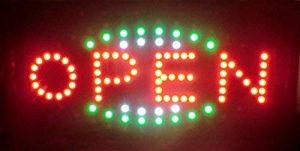 ENSEIGNE PANNEAU TABLEAU LUMINEUSE LED - OPEN. IDEAL POUR VITRINES de la marque ELECTRONIC SHOP image 0 produit