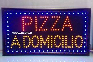 Enseigne à Pizza à domicile Dim. : 60x 33cm. de la marque Decosam image 0 produit