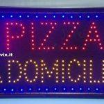 Enseigne à Pizza à domicile Dim. : 60x 33cm. de la marque Decosam image 1 produit
