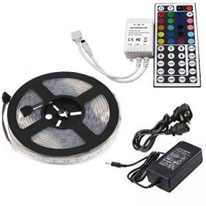 Ensemble Ruban LED RGB 5050étanche IP67+ Télécommande 44touches + Transformateur 5A 12V (5m, 300LED, 60LED/m, iP67) de la marque Ahorraluz image 0 produit