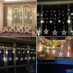 Étoiles Lumières de Rideaux, 12 Étoiles 138 Leds Guirlande lumineuse Eclairage Décoration pour Noël, Fête, Vacances, Mariages, Fenêtres, Rideaux de la marque HanLuckyStars image 2 produit