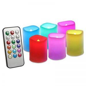 EverBrite Lot de 6 Bougies à LED Sans Flamme 12 Couleurs Jolies avec Télécommande de 18 Touches Decoration pour Table Soirée Anniversaire Mariage Fête Café de la marque EverBrite image 0 produit