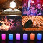 EverBrite Lot de 6 Bougies à LED Sans Flamme 12 Couleurs Jolies avec Télécommande de 18 Touches Decoration pour Table Soirée Anniversaire Mariage Fête Café de la marque EverBrite image 4 produit