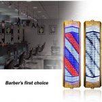 Extérieur Barbier Pôle LED, Enseigne Rotative Lumineuse De Salon, Grande Très Lumineuse, Économie D'énergie, avec Télécommande,95Cm de la marque LU KU image 1 produit