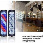 Extérieur Barbier Pôle LED, Enseigne Rotative Lumineuse De Salon, Grande Très Lumineuse, Économie D'énergie, avec Télécommande,95Cm de la marque LU KU image 2 produit