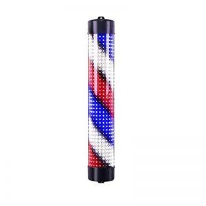 Extérieur Barbier Pôle LED, Enseigne Rotative Lumineuse De Salon,Grande Très Lumineuse, Économie D'énergie de la marque LU KU image 0 produit