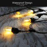 Extérieur Guirlandes Lumineuses, iEGrow 15 Mètres LED Imperméabiliser Connectable Chaîne de lumières 15 E27 pont d'Edison Ampoules Rétro pour Porche Deck Taverne Patio Jardin Fête de la marque iEGrow image 3 produit