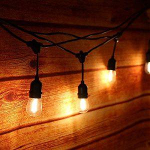 Extérieur Guirlandes Lumineuses,Tomshine 15PCS LED Ampoules guirlande guinguette, étanche IP65, 15 Mètres/49.9FT, E27 Base, Raccordable au maximum 40 Brins, Connectable Chaîne de lumières ( Blanc Chaud) (CE test,Haute qualité) de la marque Tomshine image 0 produit