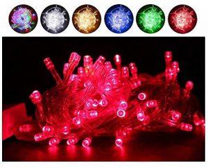 Fairy Lights, 10M 100 LEDs avec 8 types de modes clignotants, alimentés par Home Voltage. Utilisé pour l'arbre de Noël, festive, décorations de fête de mariage / anniversaire LED String Lights. de la marque G-Hawk image 0 produit