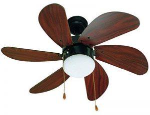 FARO PALAO 33185 - Ventilateur de plafond avec MDF en bois clair 6 pales, diamètre 760 mm, chaîne entraînée de la marque FARO image 0 produit