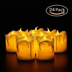 Faux vacillante Bougies, Aolvo 12paquets de bougies chauffe-plat à piles réaliste en Lot de cire de bougie à LED pour mariage, Pâques, vacances, mariage aller de la marque Aolvo image 0 produit
