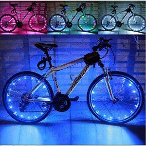 Fenrad®Guirlandes Lumineuses Décoratives 2 M 20 leds programmables a conduit la lumière de vélo, la lumière de roue de bicyclette de LED, lumière de vélo--Bleu de la marque fenrad image 0 produit