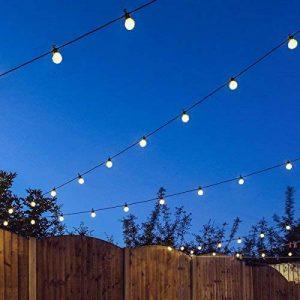 Festive Lights Guirlande Lumineuse Guinguette 24V Connectable 20 Ampoules Opaques à LED 8 Mètres Intérieur Extérieur Waterproof (Blanc Chaud) de la marque Festive Lights image 0 produit