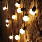 Festive Lights Guirlande Lumineuse Guinguette 24V Connectable 20 Ampoules Opaques à LED 8 Mètres Intérieur Extérieur Waterproof (Blanc Chaud) de la marque Festive Lights image 2 produit