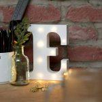 Festive Lights Lettres Lumineuses LED Bois Blanc 16cm à Piles - Chiffres et Symboles Disponibles - Ideal Decor Chambre, Mariage ou Noel de la marque Festive Lights image 3 produit