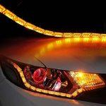FEZZ Feux de jour LED Auto Clignotants Ampoule Diurne Écoulement 32LED Blanc Jaune DRL Bandes (Paquet de 2) de la marque FEZZ image 2 produit